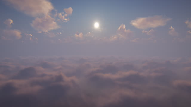 flying above the clouds - cumulus stock videos & royalty-free footage
