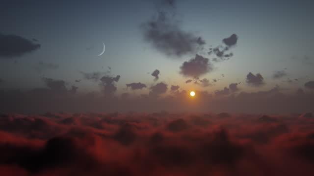 vidéos et rushes de voler au-dessus des nuages - dieu