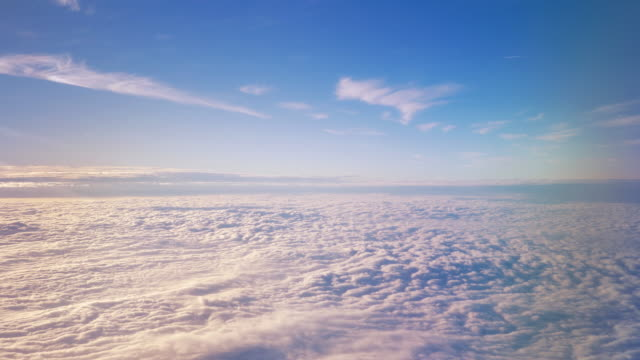flying above the clouds - soft cloud sky stock videos & royalty-free footage