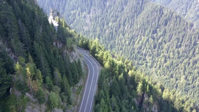 Flying above the Transfagarasan road