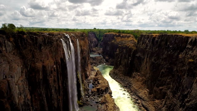 flying above victoria falls - zimbabwe stock videos & royalty-free footage
