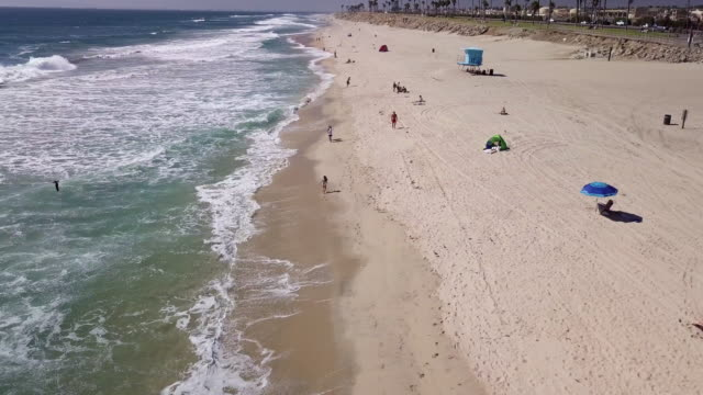 flying along the beach - gulf coast states stock videos & royalty-free footage