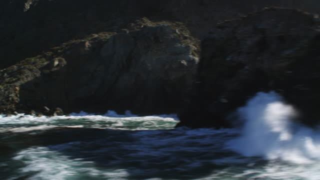 flying along the rocky coastline of santa catalina - artbeats stock videos & royalty-free footage