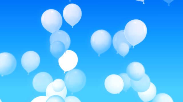 vídeos y material grabado en eventos de stock de volar globos de historieta como. - globo de helio