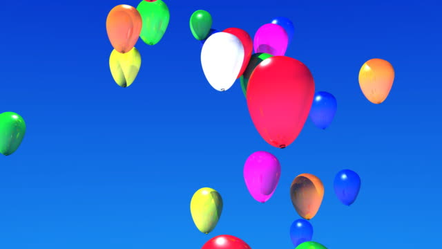 flying balloons - fiesta background stock videos & royalty-free footage