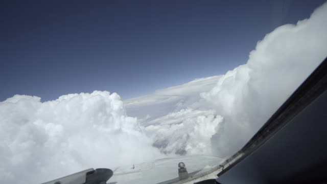 flying between clouds (aircraft pov shot) - air vehicle stock videos & royalty-free footage