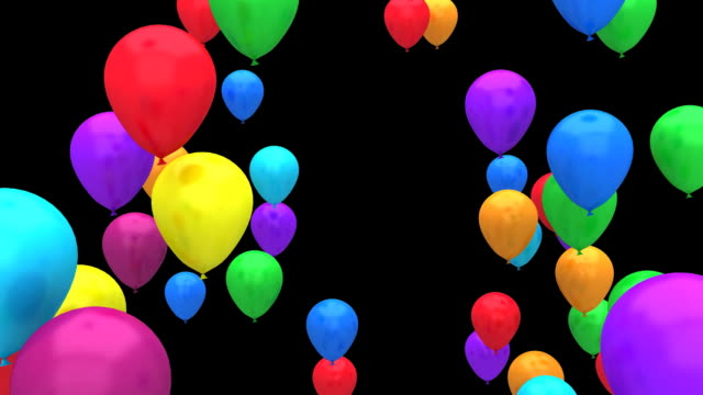 flying colour balloons hd 1080p - balloon stock videos and b-roll footage