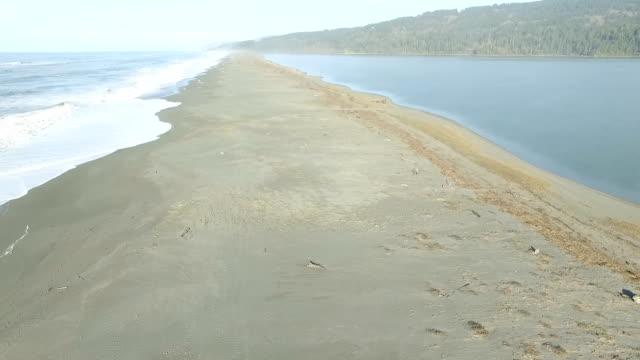 フライングダウンの海岸線に向かって北へ進み、「サンドバー」 - bar点の映像素材/bロール