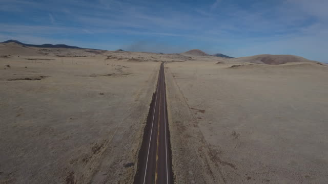 flying down desert road right to left - Drone Aerial 4K Arizona desert, open plain, trail, adventure, discovery landscape, reveal, beautiful, prairie 4K Nature/Wildlife/Weather Drone Aerial View