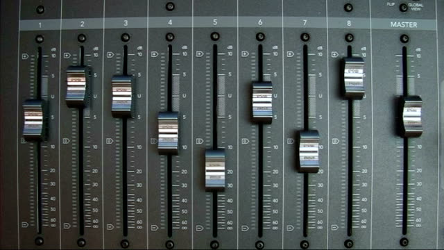 flying faders - knob stock videos and b-roll footage