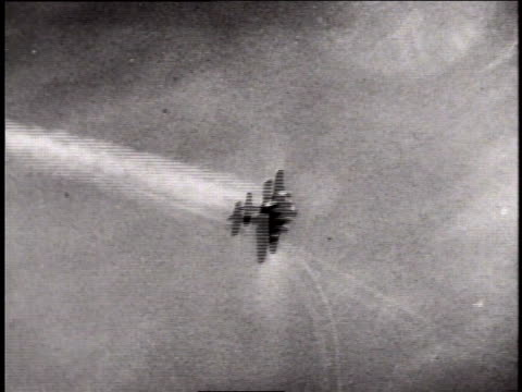 flying fortress catching fire and going down in flames / germany - boeing b 17 bildbanksvideor och videomaterial från bakom kulisserna