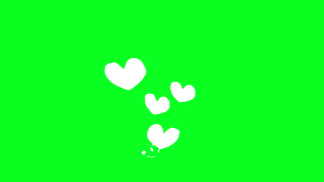 flying hearts animation loopable animation - heart stock videos & royalty-free footage