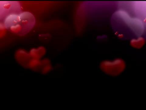 vídeos y material grabado en eventos de stock de flying hearts-ntsc - fundido en negro