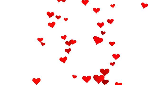 stockvideo's en b-roll-footage met flying hearts - valentijnskaart (loop 4k) - cadeau
