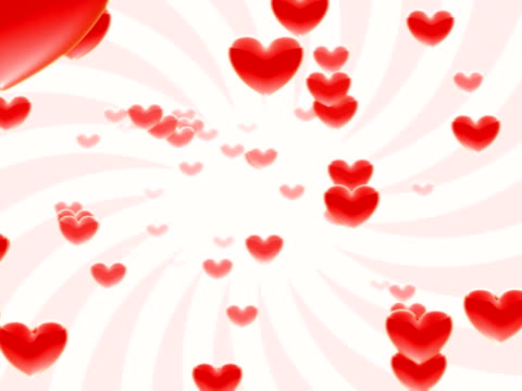 flying hearts - conceptual symbol stock videos & royalty-free footage