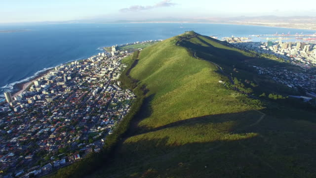 flying high over signal hill - cape town stock videos & royalty-free footage