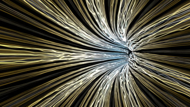 flying in an abstract beautiful tunnel consisting of energy lines - computazione quantistica video stock e b–roll