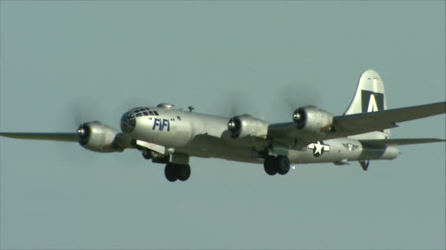 B-29 flying in the sky