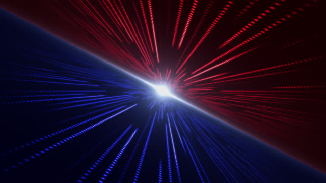 flying into abstract technology sci-fi with rotation blue and red background - red stock videos & royalty-free footage