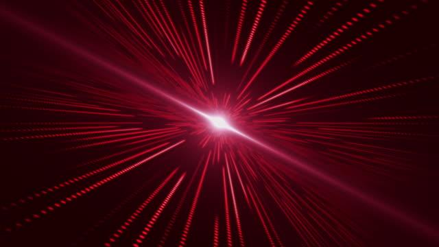 vidéos et rushes de voler dans la technologie abstraite science-fiction avec le fond rouge de rotation - red