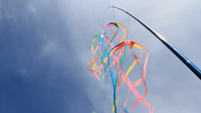 flying kite - flag blowing in the wind stock videos & royalty-free footage