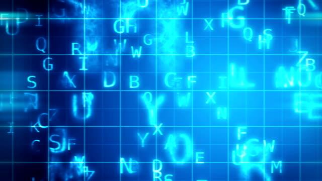 vidéos et rushes de lettres de vol - lettre de l'alphabet