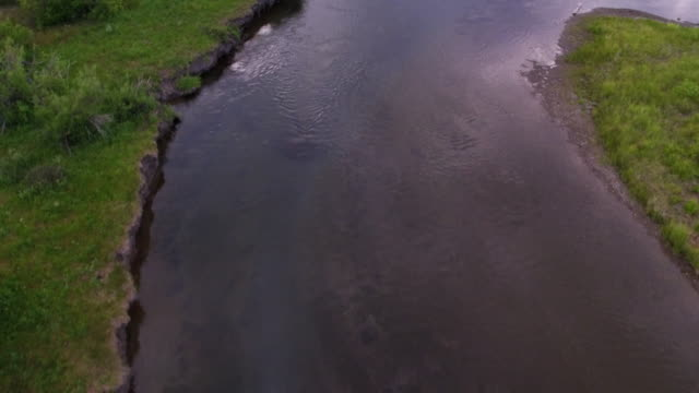 flying low looking down at river - curve stock videos & royalty-free footage