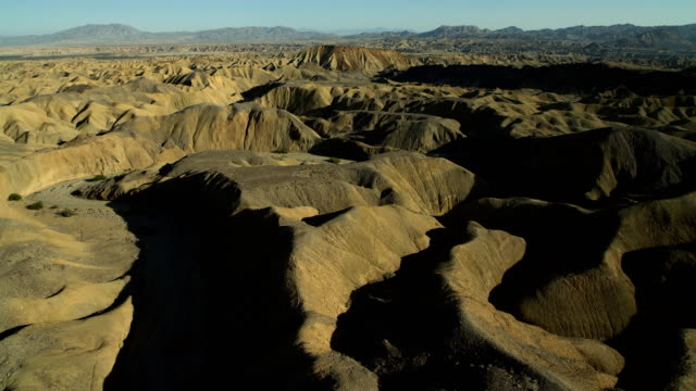 Flying Low Over Badlands In Southern California