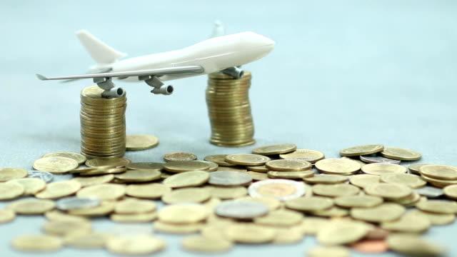 flying money concept   and coins - european union coin bildbanksvideor och videomaterial från bakom kulisserna