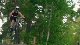 Flying MTB Rider