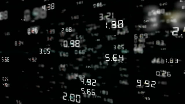 flying numbers 4k - dollar symbol stock videos & royalty-free footage