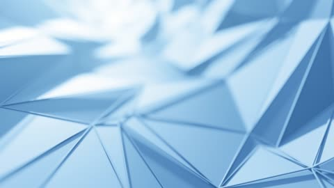flying over abstract geometric surface (blue) - loopable background - triangle shape stock videos & royalty-free footage