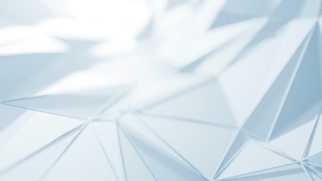 flying over abstract geometric surface (white) - loopable background - folded stock videos & royalty-free footage