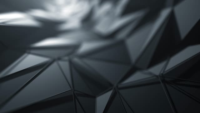 flying over abstract geometric surface (black) - loopable background - two dimensional shape stock videos & royalty-free footage