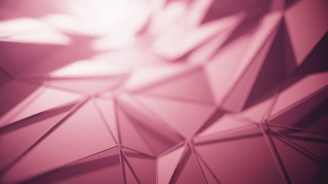 flying over abstract geometric surface (red / purple) - loopable background - folded stock videos & royalty-free footage
