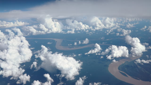 Flying over Amazon river