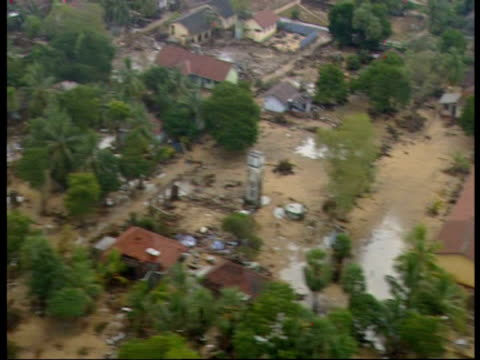 flying over an area devastated by the 2004 indian ocean tsunami. - 2004 stock videos & royalty-free footage