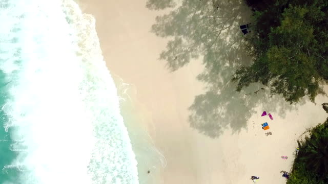 Flying over Anse Intendance - Mahe - Seychelles