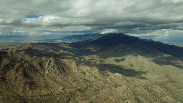 Flying Over Arid Mountains In Southwest USA