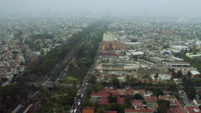 flying over avenida de los insurgentes - avenida stock videos & royalty-free footage