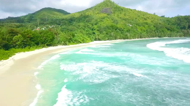 Flying over Baie Lazare - Mahe - Seychelles
