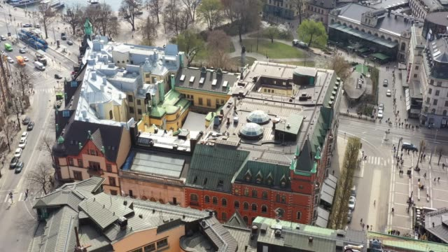 flying over central stockholm, near stureplan - scandinavia stock videos & royalty-free footage