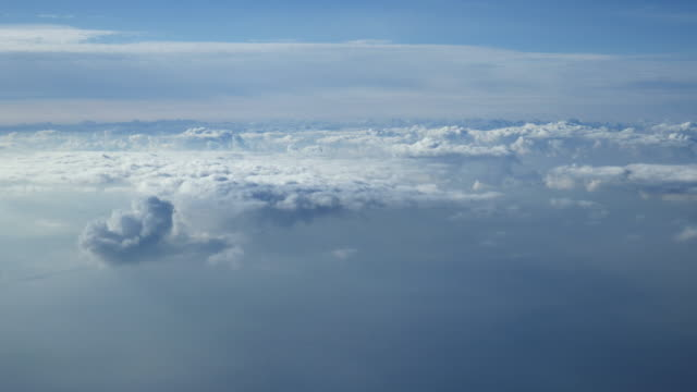 flying over clouds time lapse (super sonic impression) - supersonic airplane stock videos and b-roll footage