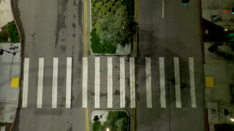 flying over empty downtown los angeles street - barren stock videos & royalty-free footage