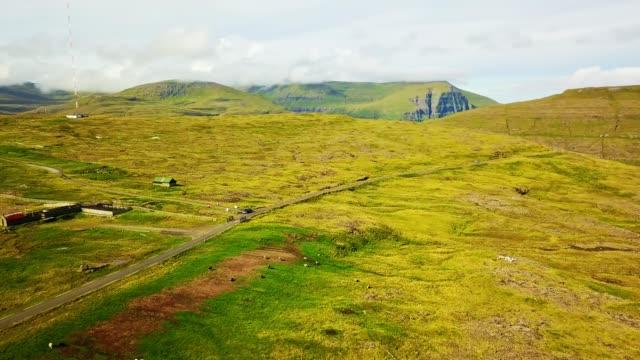 flying over eysturoy - Faroe island