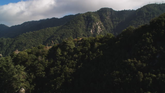 flying over forest in the san gabriel mountains, california. shot in 2010. - angeles national forest stock videos and b-roll footage