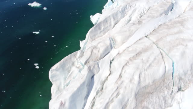 flying over glaciers and crevasses in antarctica - antarctica drone stock videos & royalty-free footage