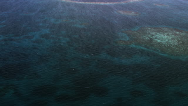 Flying Over Great Blue Hole Of Belize