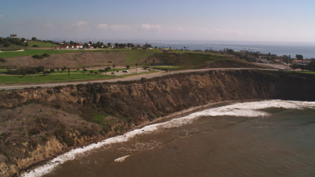 flying over headlands and cityscape toward los angeles harbor - artbeats stock videos & royalty-free footage