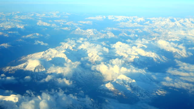 flying over italian alps - mont blanc stock videos & royalty-free footage